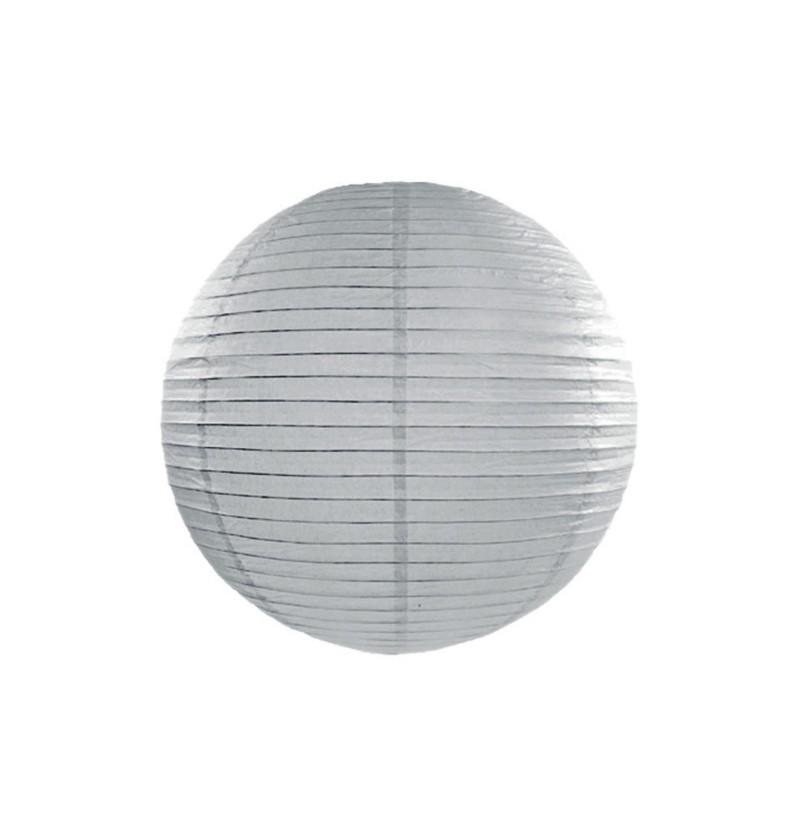 Farolillo gris de papel de 25 cm