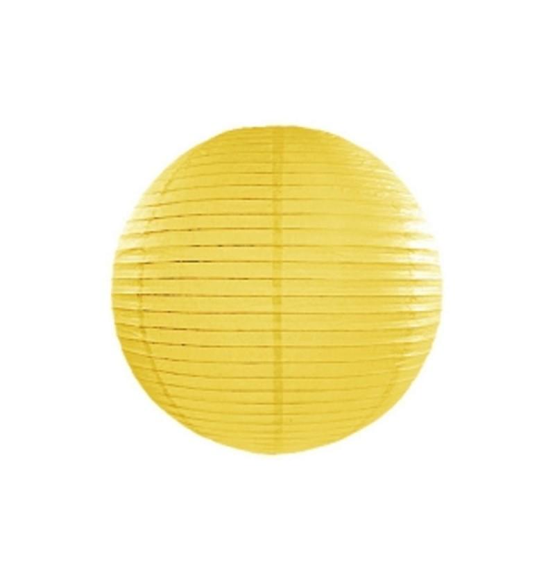 Farolillo amarillo de papel de 25 cm