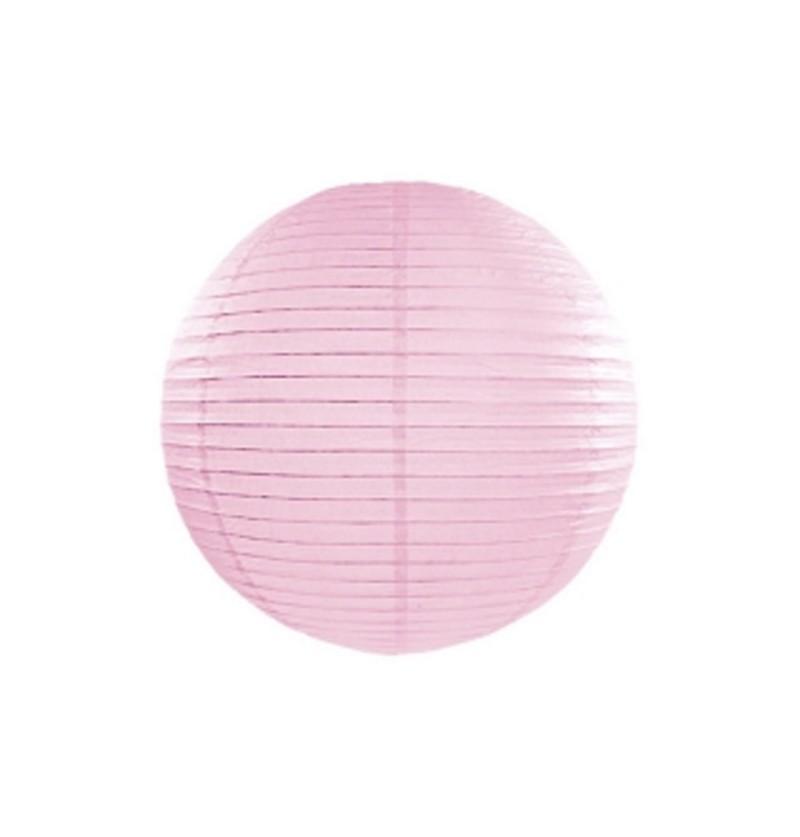 Farolillo rosa claro de papel de 25 cm