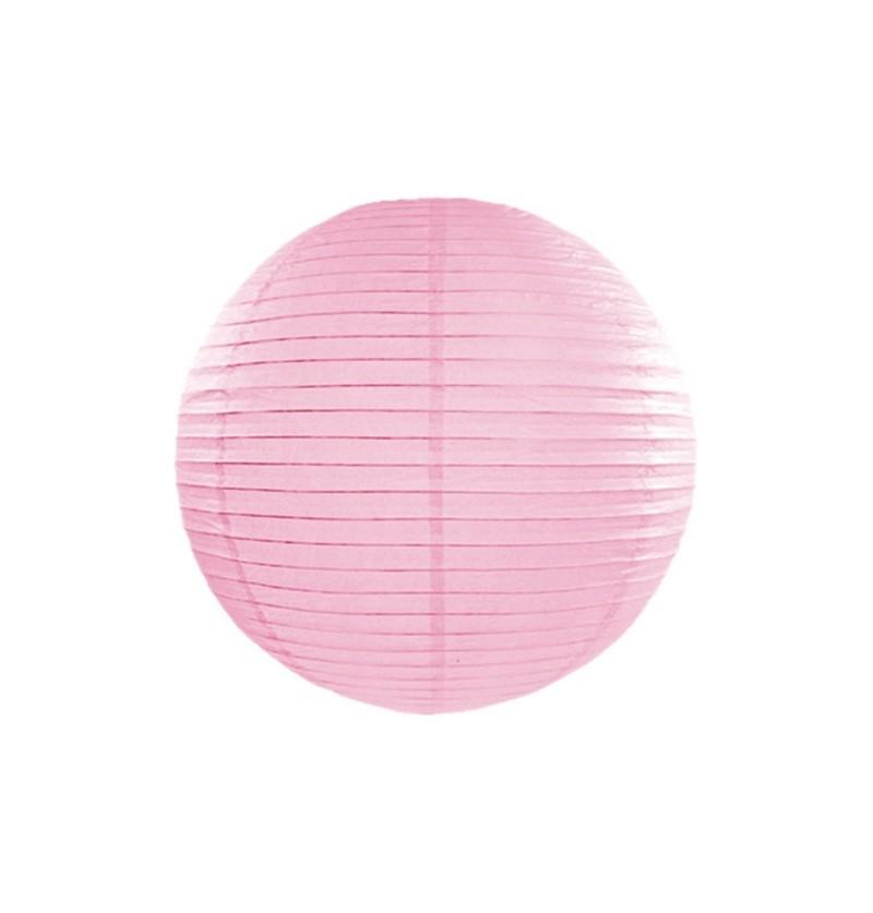 Farolillo rosa de papel de 25 cm
