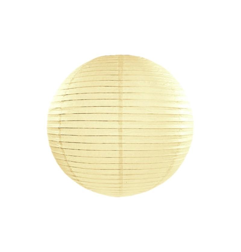 Farolillo beige de papel de 25 cm