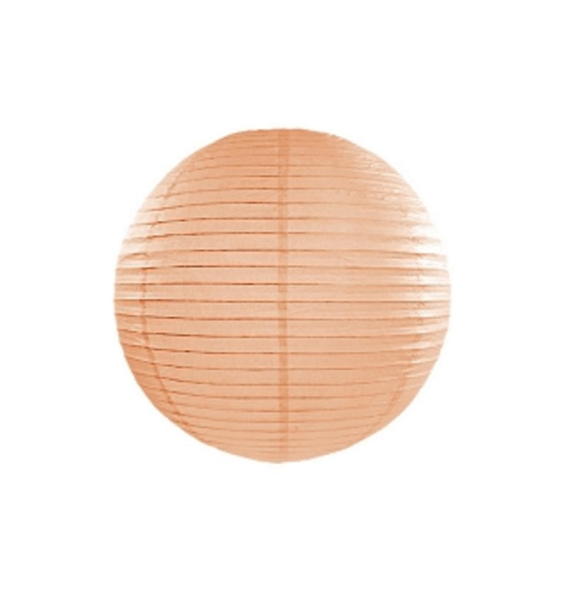 Farolillo naranja melocotón de papel de 25 cm