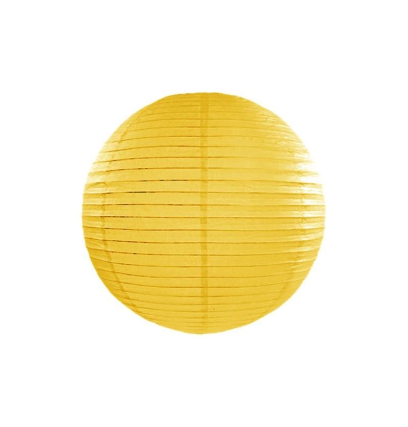 Farolillo amarillo de papel de 20 cm