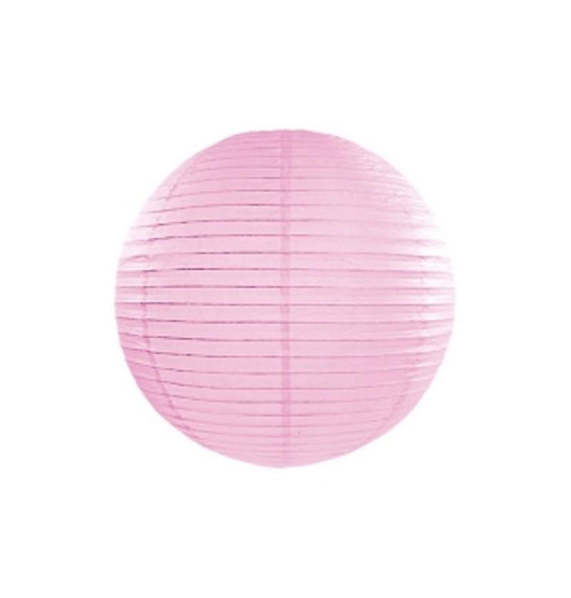 Farolillo rosa claro de papel de 20 cm
