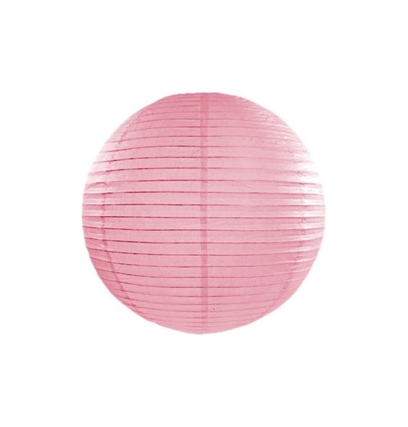 Farolillo rosa de papel de 20 cm