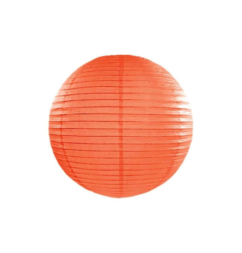 Farolillo naranja de papel de 20 cm