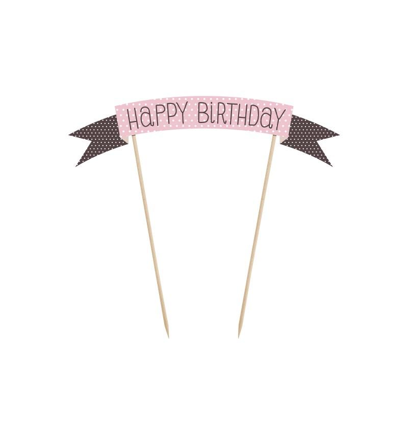 """Decoración para tarta """"Happy Birthday"""" - Sweets"""