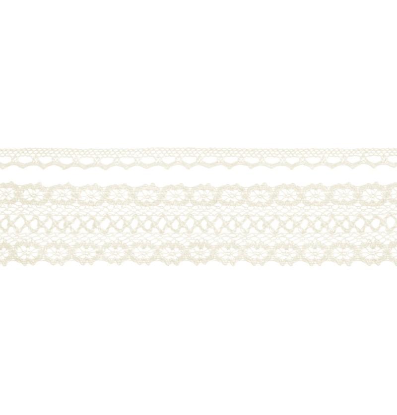 Set de 2 puntillas beiges de 2 anchos distintos para decoración de botellas - Natural Wedding