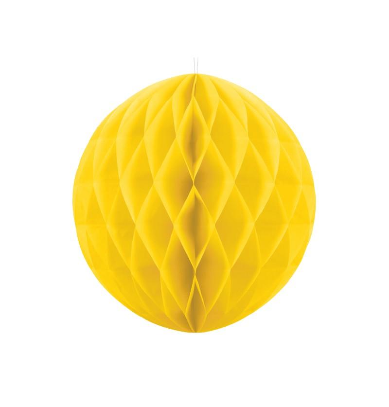 Esfera amarilla de 40 cm de nido de abeja