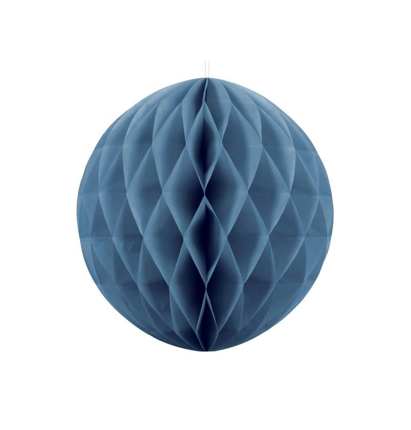 Esfera azul de 40 cm de nido de abeja