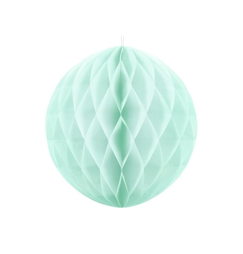 Esfera verde menta pastel de 30 cm de nido de abeja