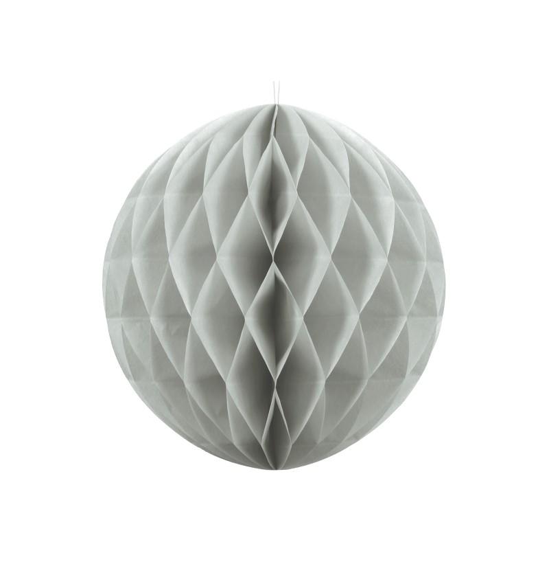 Esfera gris de 30 cm de nido de abeja