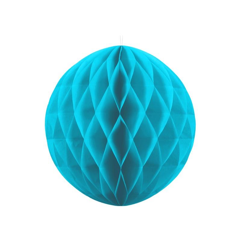 Esfera azul turquesa de 30 cm de nido de abeja