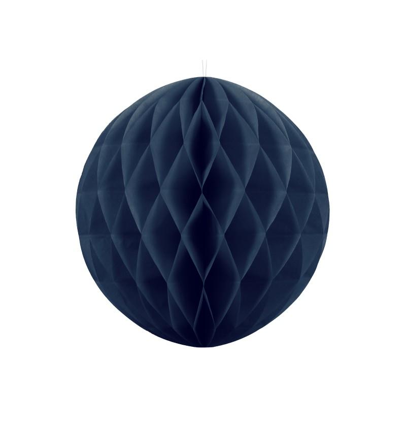 Esfera azul marino de 30 cm de nido de abeja