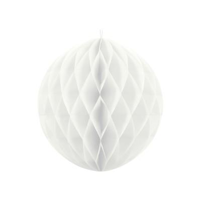 Esfera blanca de 30 cm de nido de abeja