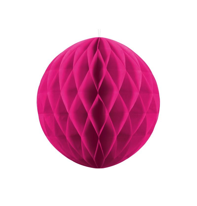 Esfera rosa oscuro  de 30 cm de nido de abeja