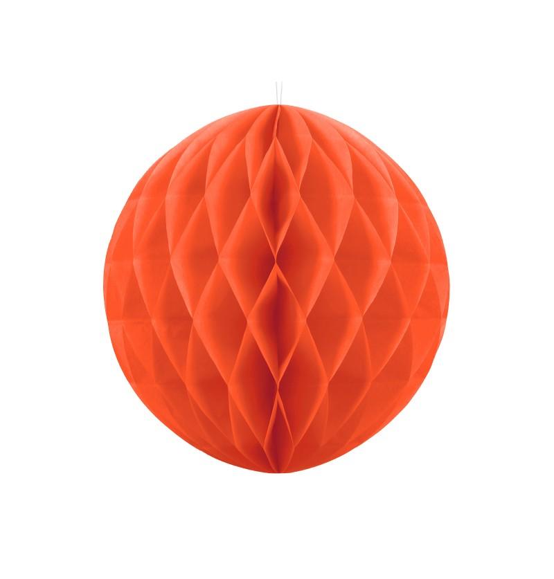 Esfera naranja de 30 cm de nido de abeja