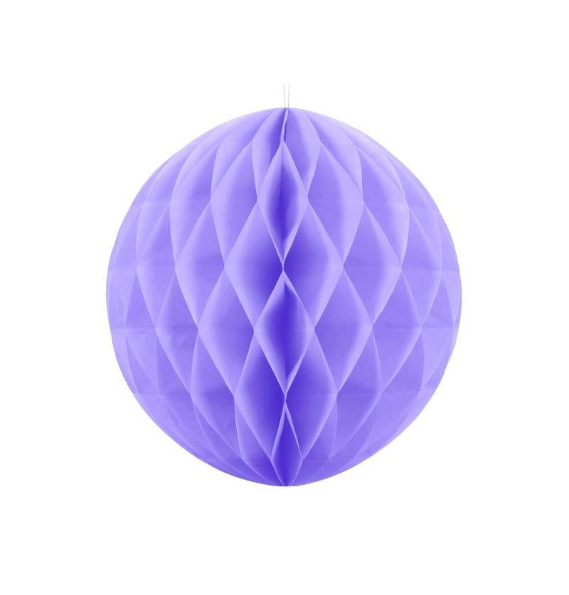 Esfera lila de 30 cm de nido de abeja