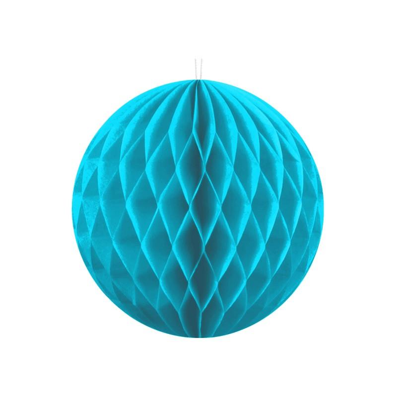 Esfera azul turquesa de 10 cm de nido de abeja