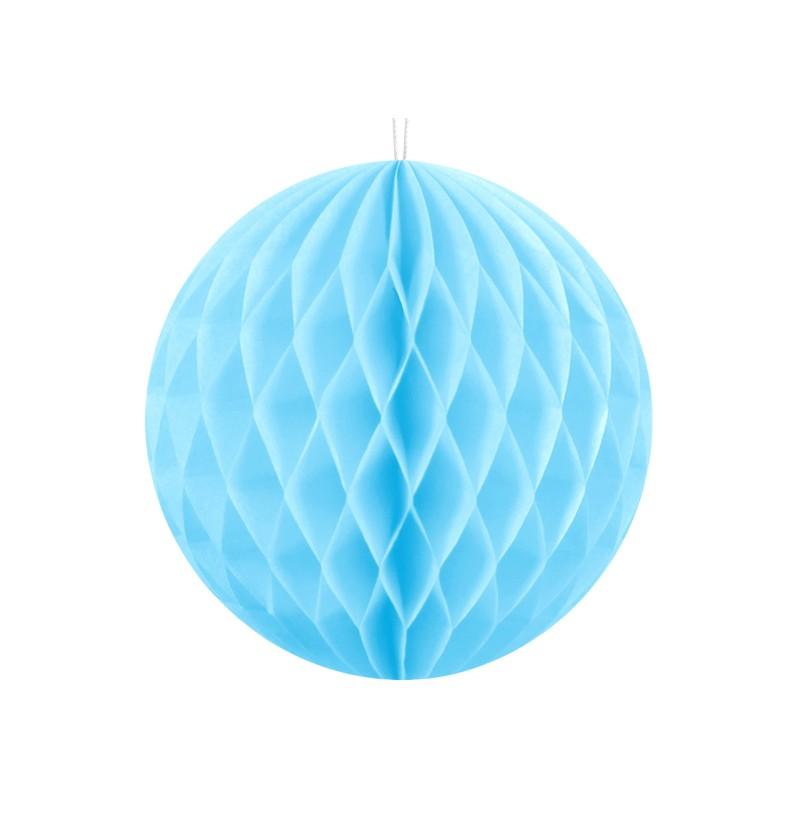 Esfera azul cielo de 10 cm de nido de abeja