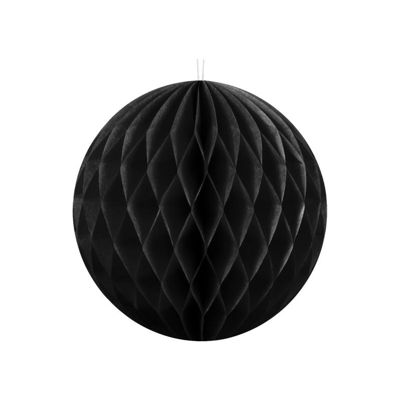 Esfera negra de 10 cm de nido de abeja