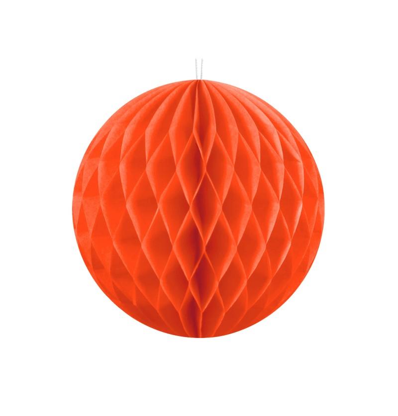 Esfera naranja de 10 cm de nido de abeja