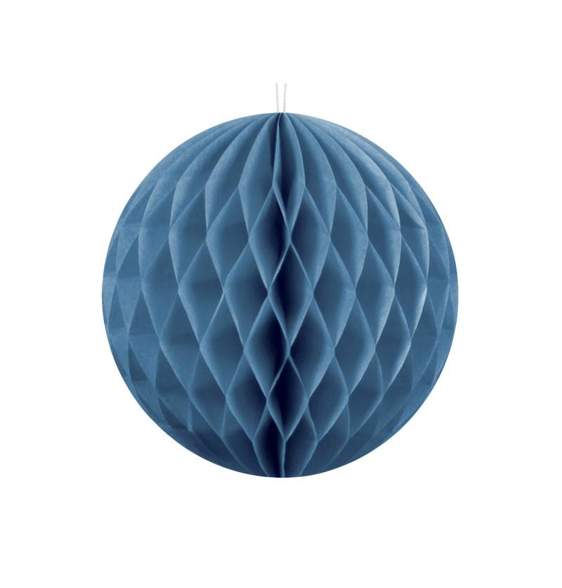 Esfera azul de 10 cm de nido de abeja
