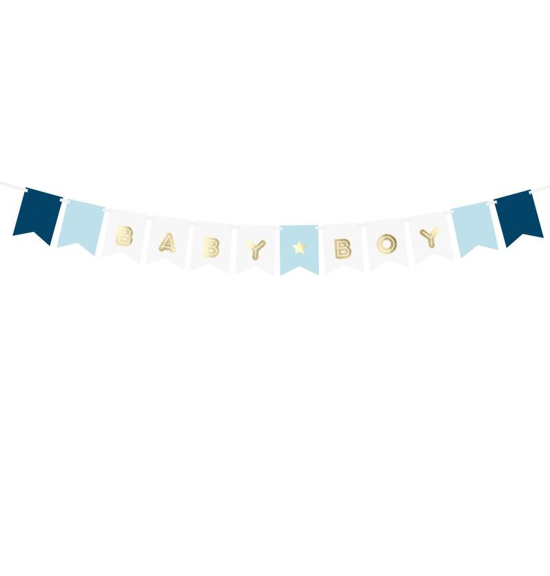 """Banderín """"Baby Boy"""" azul"""