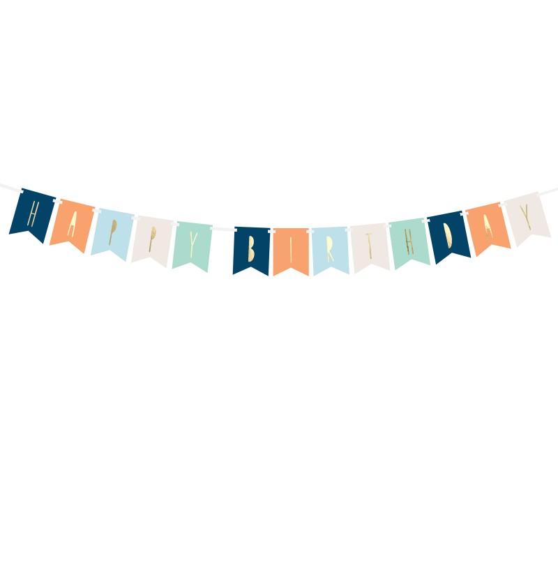 """Banderín """"Happy Birthday"""" multicolor"""