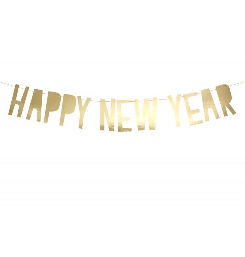 "Guirnalda ""Happy New Year"" dorada - Happy New Year Collection"