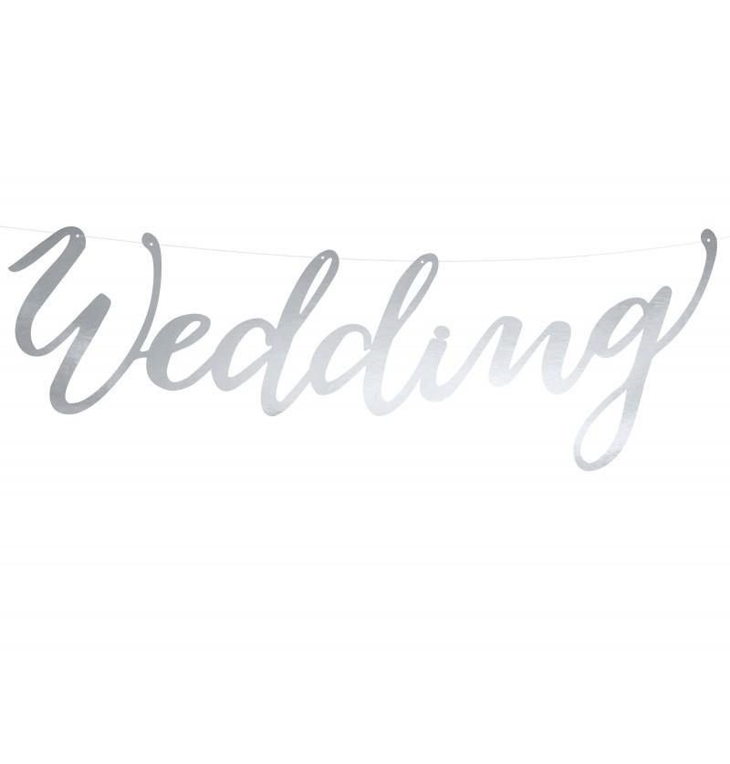 "Guirnalda ""Wedding"" plateada - Elegant Bliss"
