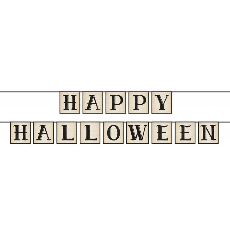 """Guirnalda """"Happy Halloween"""" de papel"""