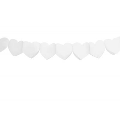 Guirnalda de corazones blancos de papel