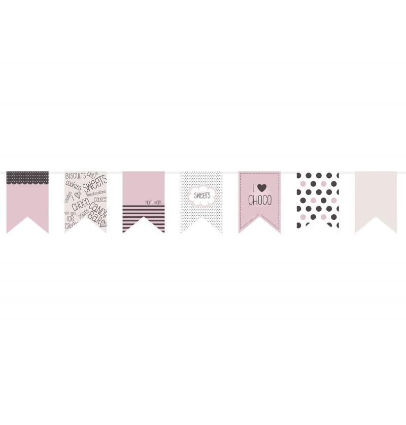 Banderín estampado de papel - Sweets