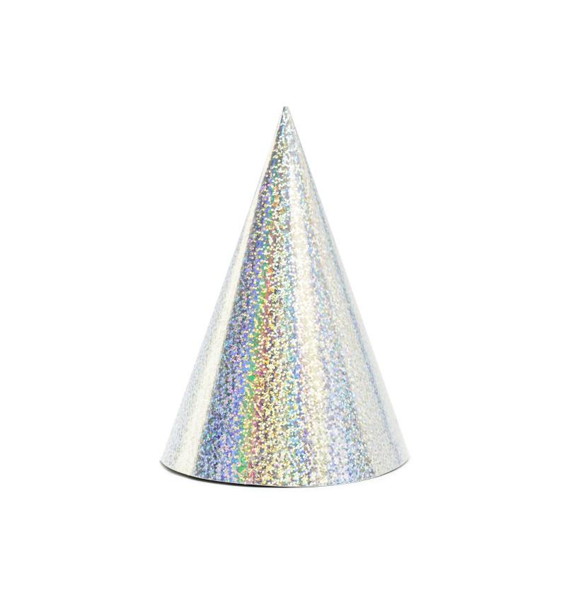 Set de 6 gorritos holográficos de papel - Exotix Holo