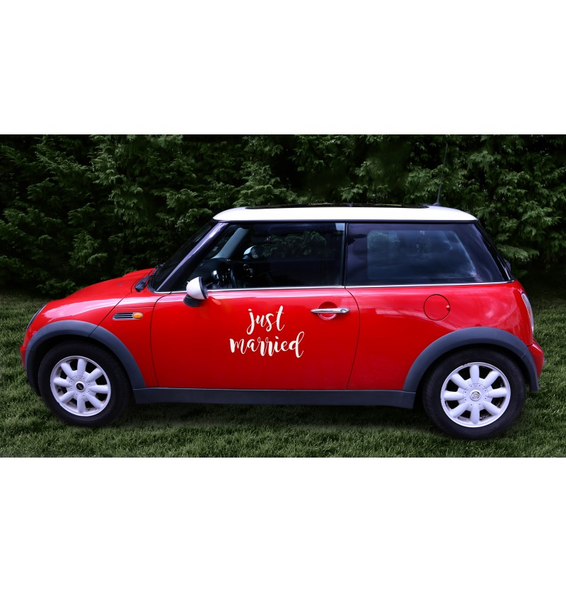 """Pegatina para coche """"Just married"""" - Car decorations"""