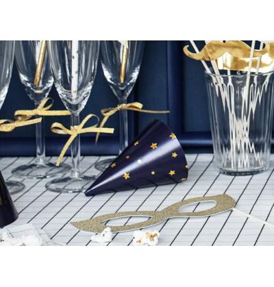 Set de 6 gorritos estampados de papel - Happy New Year
