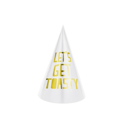 Set de 6 gorritos variados de papel - Happy New Year