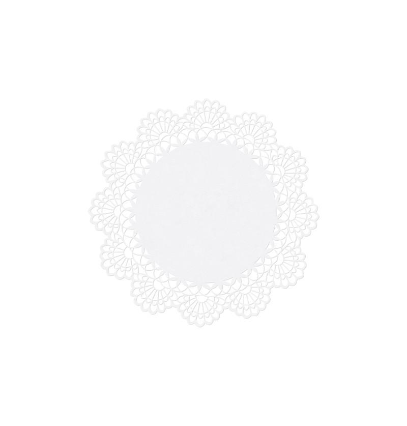 Set de 10 tarjetas para mesa redondas blancas de papel - First Communion