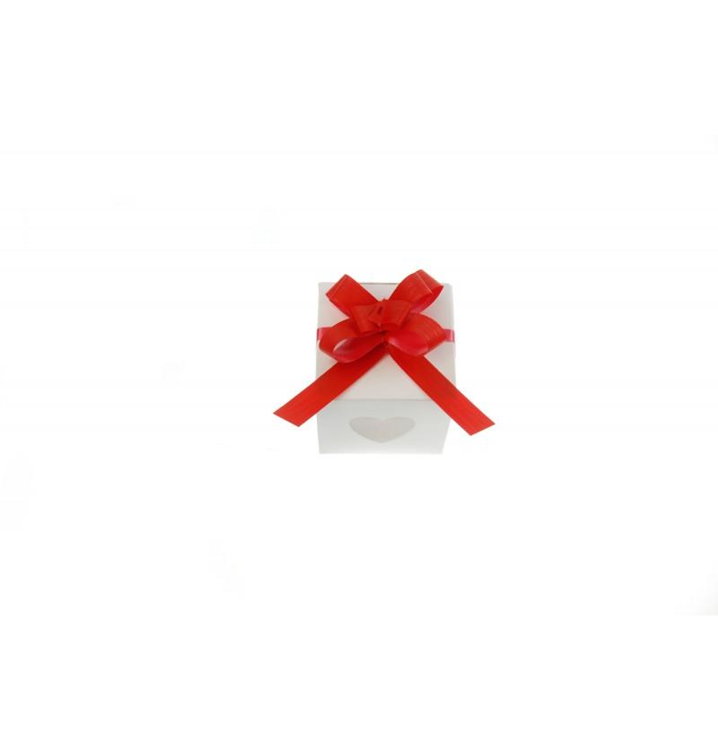 Set de 50 cintas de lazo rojas de 1 cm
