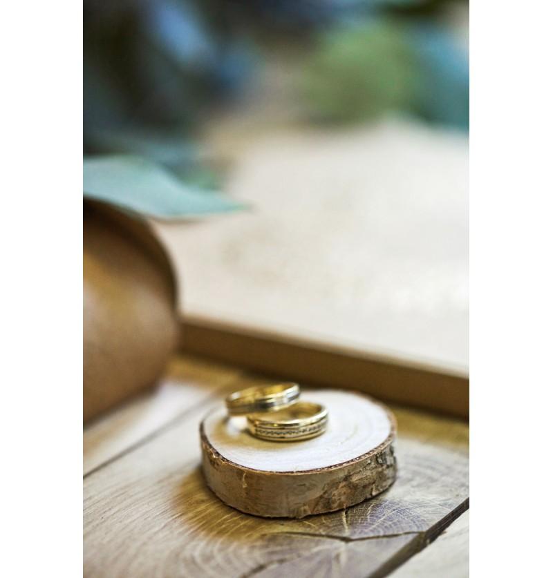 Set de 20 tarjetas para mesa efecto tronco árbol - Rustic Wedding