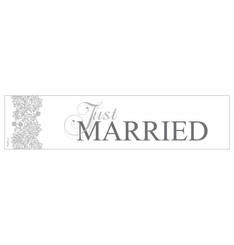 """Matrícula """"Just married"""" para coche de recién casados"""