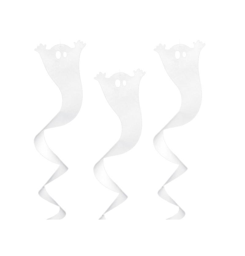 Espiral colgante blanca con forma de fantasma - Halloween