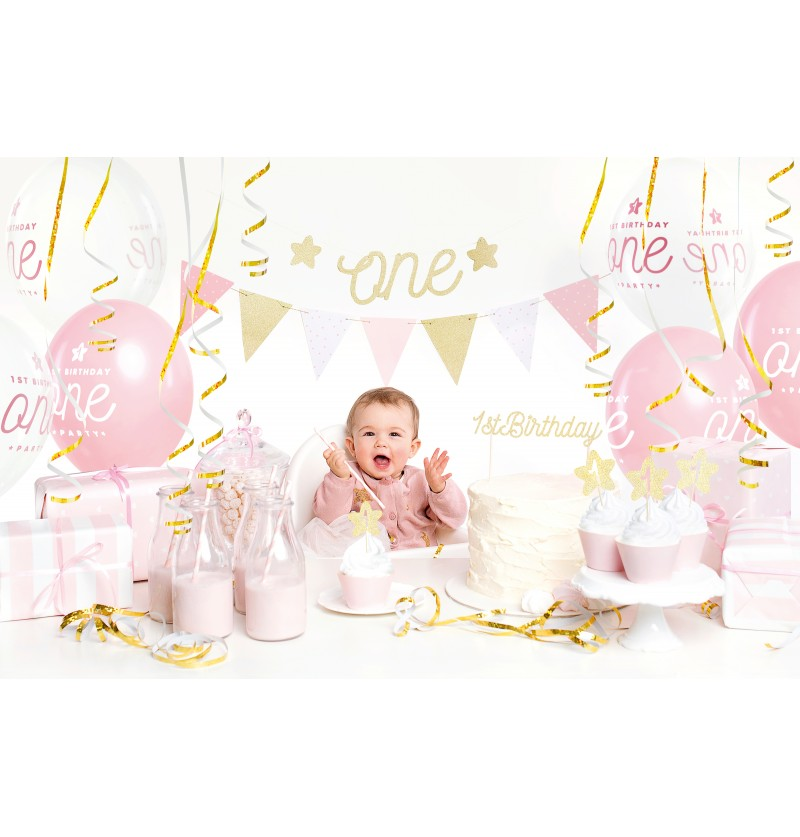 "Kit de decoración de fiesta ""1st Birthday"" rosa - 1st Birthday"