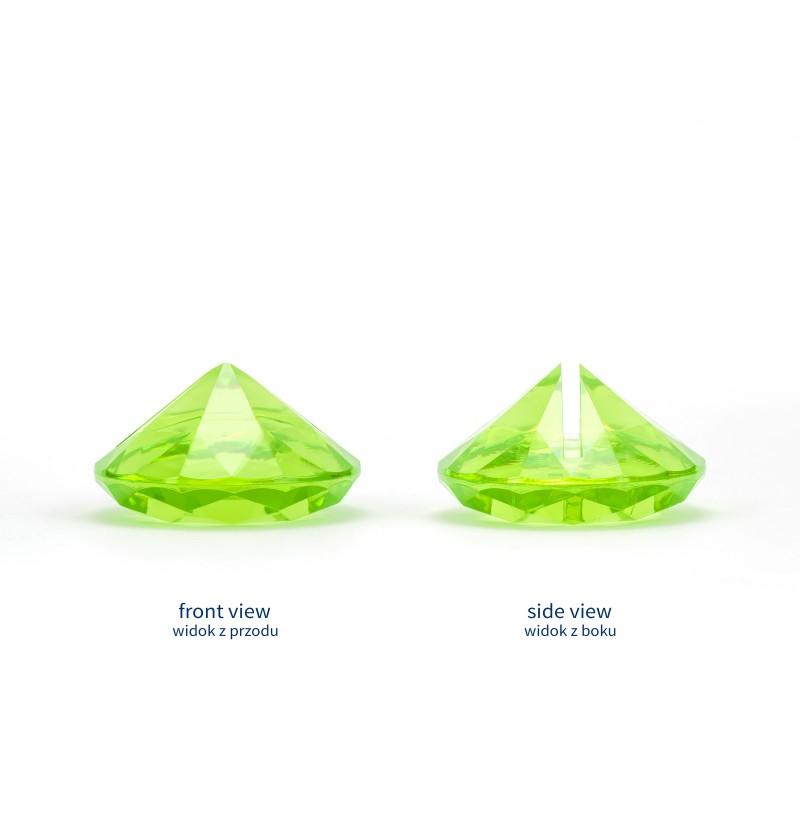 Set de 10 sujeta tarjetas verde claro con forma de diamante