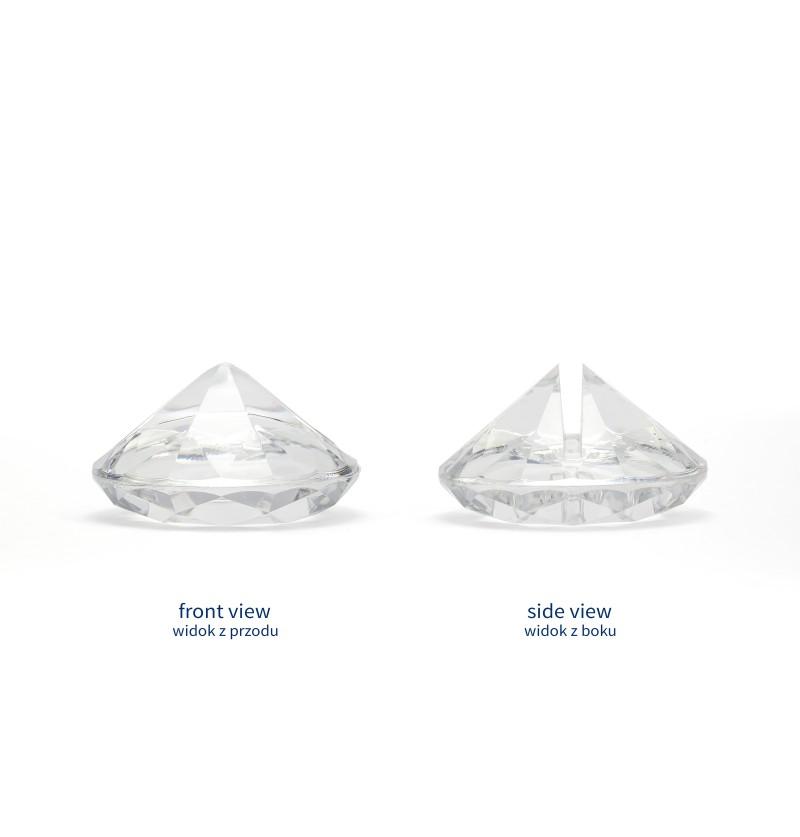 Set de 10 sujeta tarjetas transparente con forma de diamante