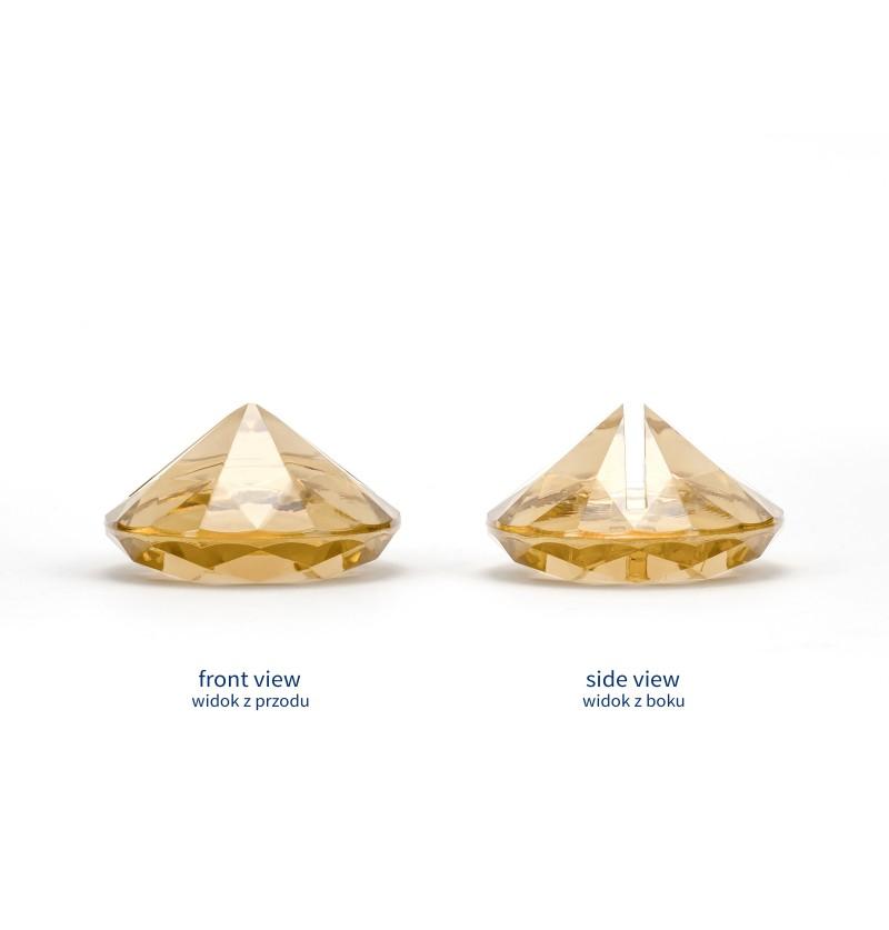 Set de 10 sujeta tarjetas dorado con forma de diamante