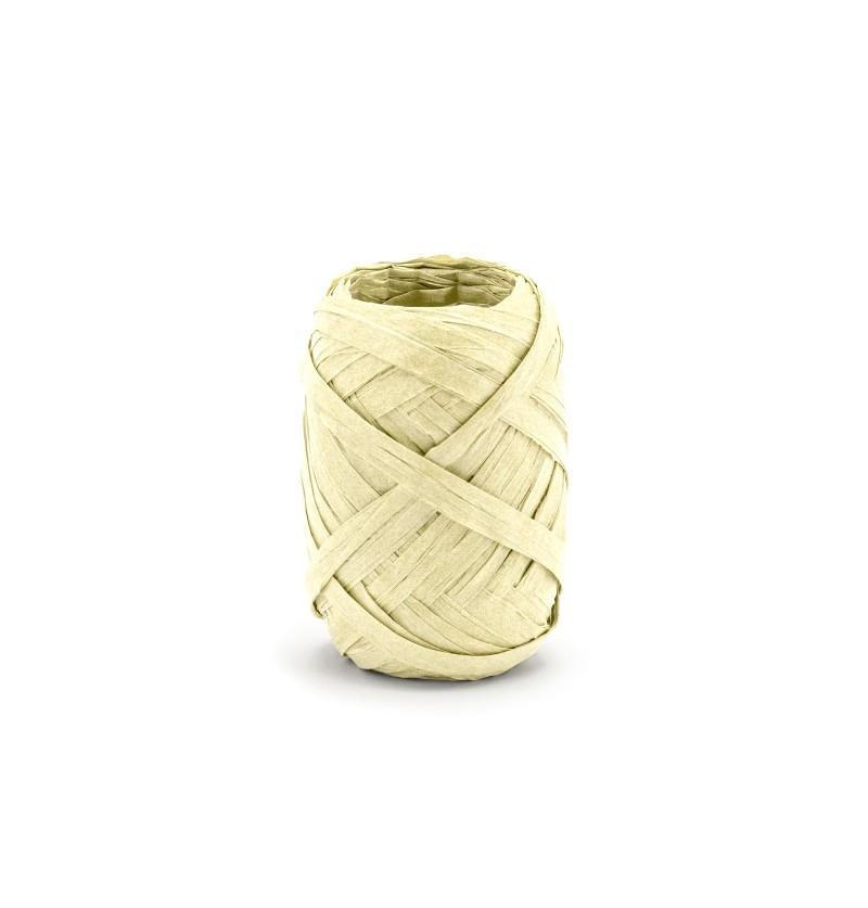 Cinta beige decorativa de 5 mm de rafia