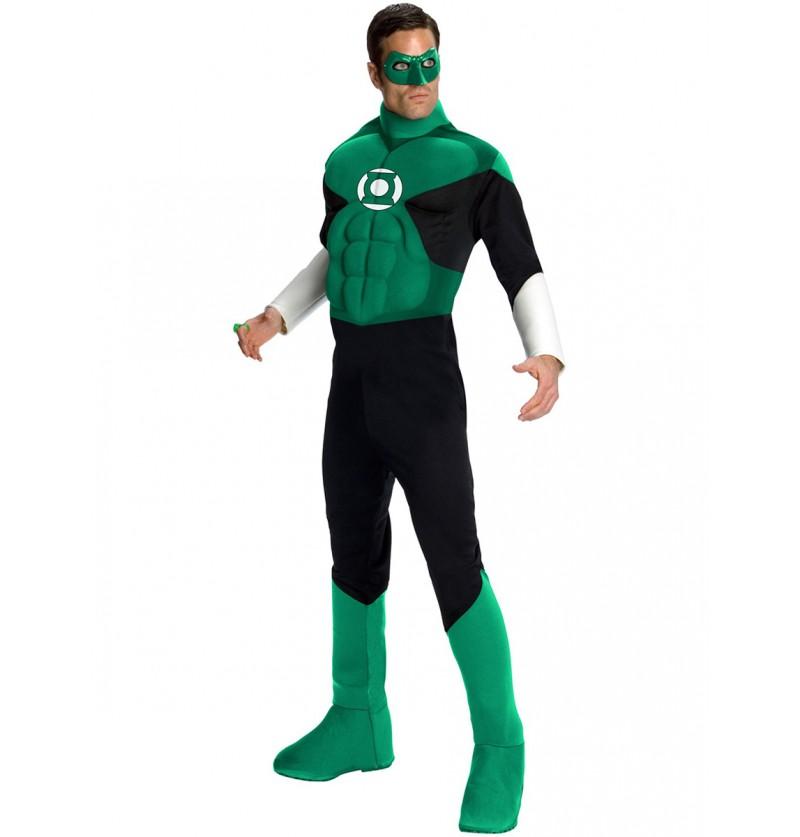 Disfraz de Linterna Verde musculoso