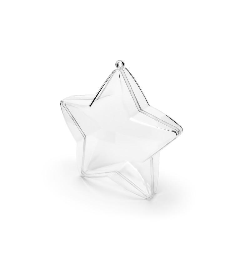 Set de 3 porta pasteles con forma de estrella